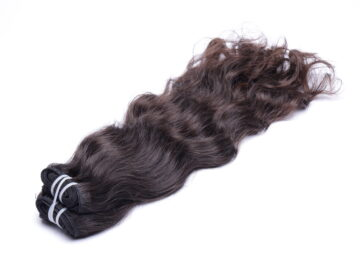 "20"" wavy machine weft brown"